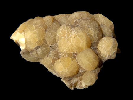aragonite: Nice specimen of yellow botryoidal aragonite from Vinarice, Czech republic