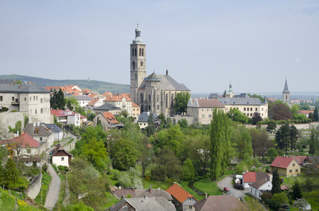 Panorama of St  Jakub gothic cathedral, Czech republic photo