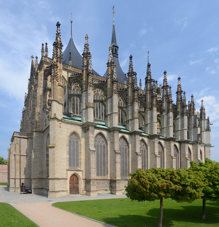 Gothic cathedral of St Barbora in Kutna Hora, Czech\ republic
