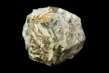 sulfide: Dodecahedron shaped crystal of pyrite from Rio Marina, Italy