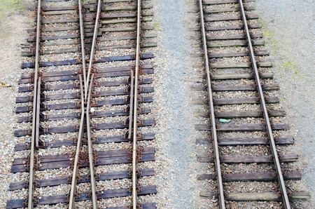 junction: Detail of old railways with junction
