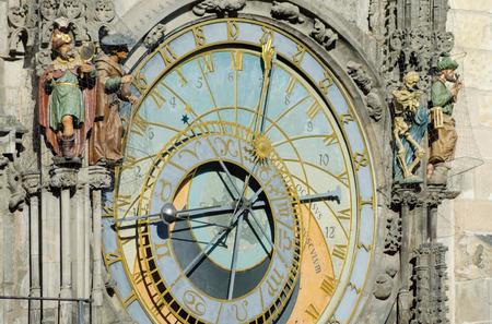 cronologia: Detalle del reloj hist�rico (orloj) en Praga, Rep�blica Checa