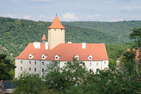 gothic castle: Gothic castle Veveri in the woods near Brno, Czech Republic