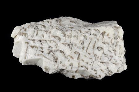 Detail of graphic pegmatite rock intergrowths of quartz and feldspar from Pilawa Gorna, Poland