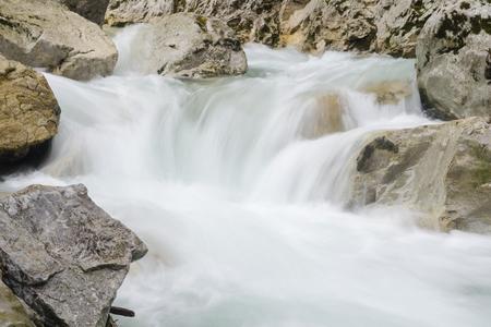 Swift creen with small waterfall in rocky canyon, Mala Fatra NP, Slovakia