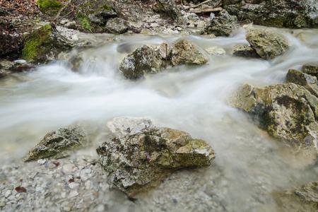 Swift creek with motion-blurred water flow, Mala Fatra NP, Slovakia