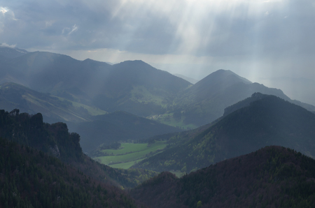 Mala Fatra mountains landscape after the storm with dramatic light