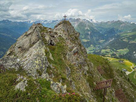 Bunkopfl peak and Alpine valley above Matrei in Osttirol, Hohe Tauern, Austria