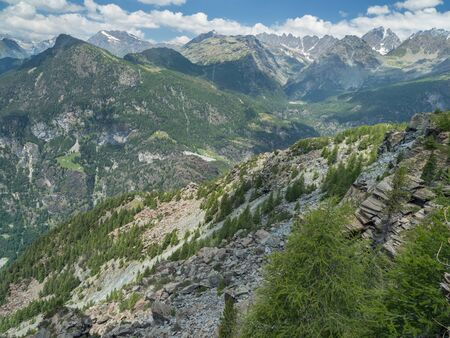 Serpentinite Alpine peaks in Val Malenco area, Italy Standard-Bild