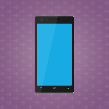 mobile phone icon: Illustrated vector icon of flat mobile phone