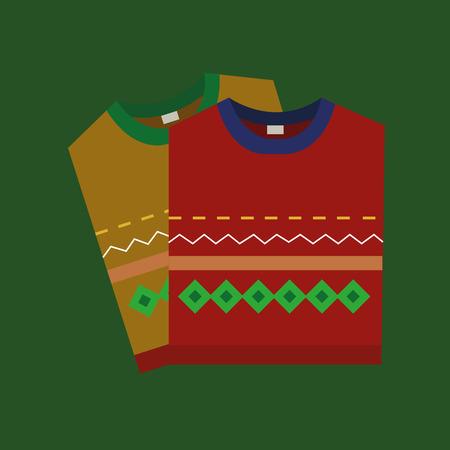 sueter: suéter navidad Vectores