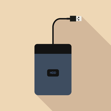 external hard drive Illustration