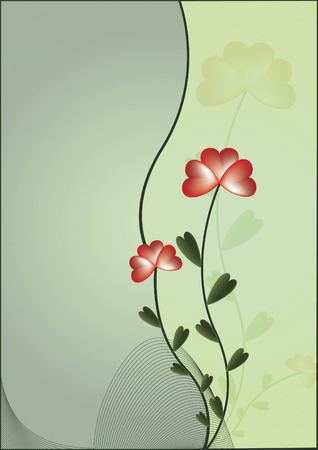 green background with stylize flower
