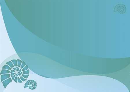 abstract background with shell Illustration