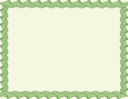 blank background with green frame
