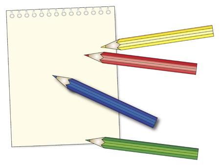 blanck: blanck notepad with pastel