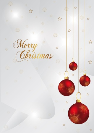 elegant christmas background with red and gold christmas ball Stock Vector - 10897108