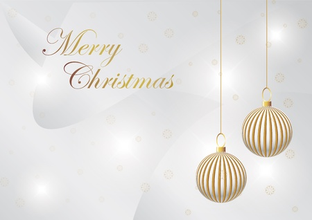 gold elegant christmas background with christmas ball Stock Vector - 10897104
