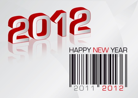 greeting card 2012 with barcode