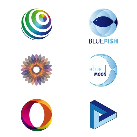 Set of logos or design elements Stock Vector - 10897120