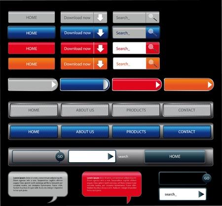 big button web form design Stock Vector - 10999502