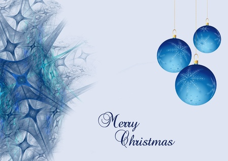 blue abstract christmas background with ball