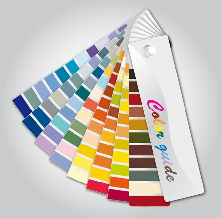 Illustration color guide on the grey background Stock Photo