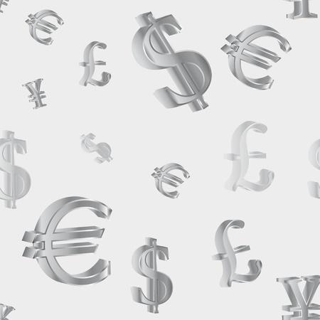 seamless pattern with symbol money