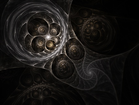 Beautiful abstract fractal in brown on black background