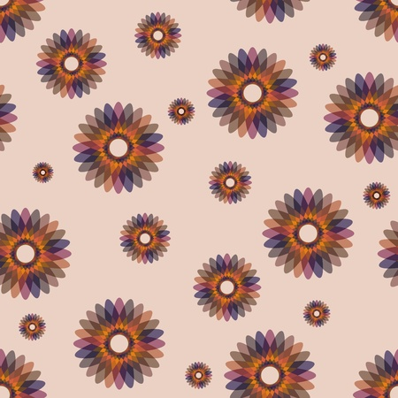 ornate seamless pattern with abstract flower