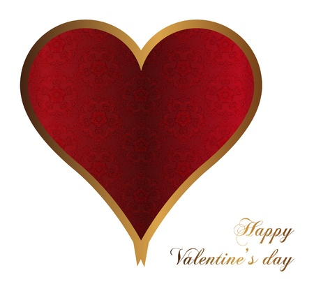 red valentines heart with ornate