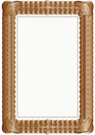 brown background on white background, certificate Vector