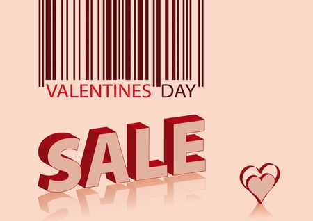 ean: valentines sale - background with EAN