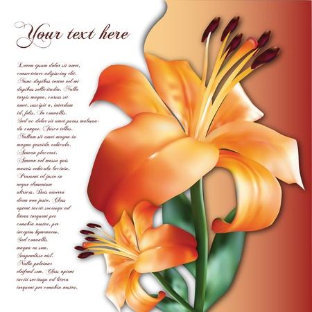 background with photorealistic flower Illustration