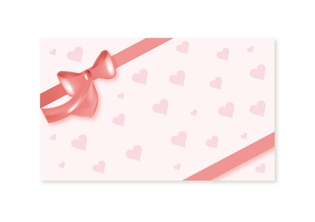 pink valentines card with heart Illustration