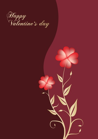 valentines background with stylize flower