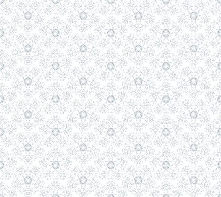 ornate blue seamless pattern on white background Stock Photo