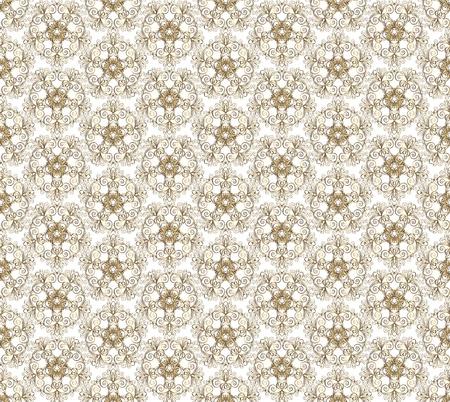 ornate gold seamless pattern on white background