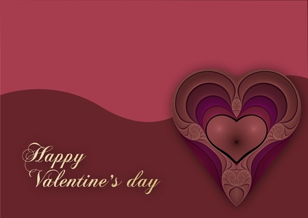 valentines heart with ornate and swirl Stock Photo