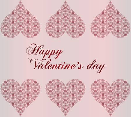tree valentines heart on pink background