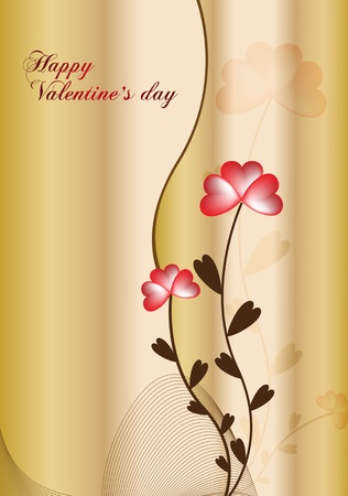 gold background with stylize flower