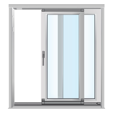 White doors with glass panels photo