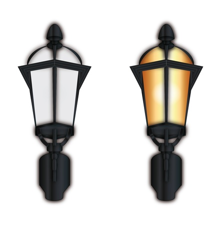 two street lamp on white background