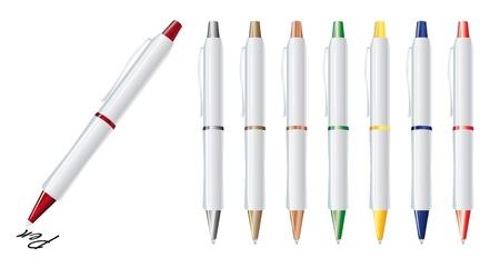 Vector illustration of set colorfull pens Illustration