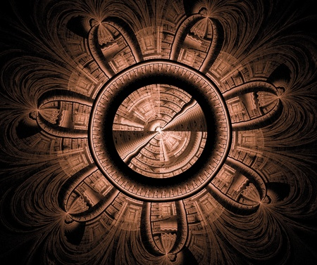 abstract technological fractal background