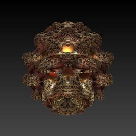 maya mask - abstract background  raster fractal graphics Stock Photo