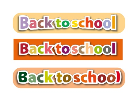 back to school  illustration, color sign illustration