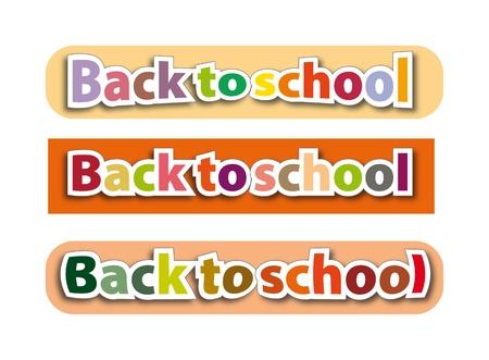 back to school  illustration, color sign Stock Illustration - 14766282