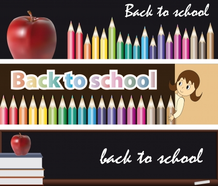 3 banners, back to school illustration illustration