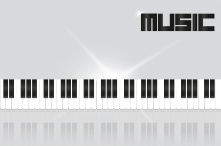 background with piano keys in shades of gray Vector